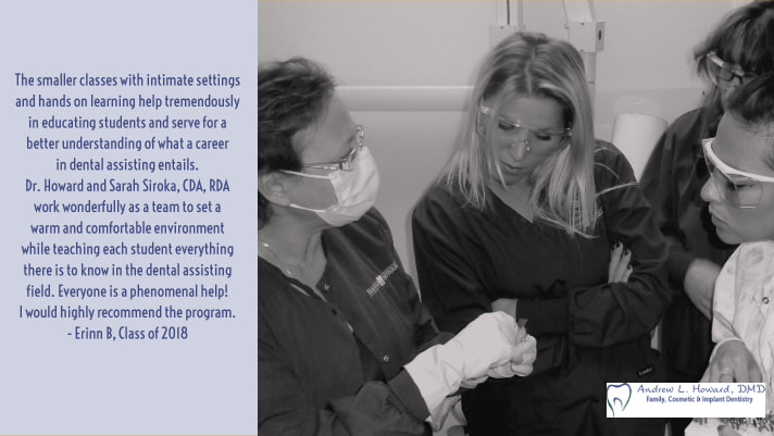 Instructor Sarah Siroka teaches students in our dental assisting class in Morristown, NJ.
